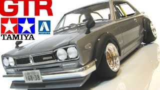 getlinkyoutube.com-タミヤ+アオシマ 日産スカイライン 街道レーサー ハコスカ NISSAN GTR 改造プラモデル 改修 HT2000 sedori2012