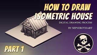 getlinkyoutube.com-Sephiroth Art #9 | Digital Drawing Process - Isometric House