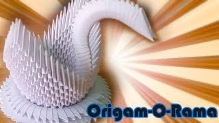 getlinkyoutube.com-CISNE de 400 piezas (#origami3D)