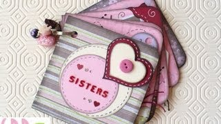 getlinkyoutube.com-Scrapbooking Tutorial: Mini Album Sisters + qualche TRUCCO