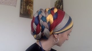 getlinkyoutube.com-Crazy Intricate Wrapunzel Braided Tichel with 2in1s!!