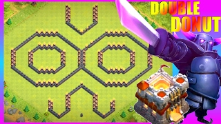 getlinkyoutube.com-New COOL Th11 (Town Hall 11) Double Ring (Donut) Base With REPLAYS!  [2017] - Clash Of Clans (CoC)