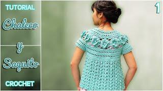 getlinkyoutube.com-Chaleco y saquito a crochet para niña, paso a paso (1 de 3)