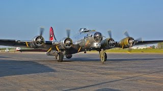 getlinkyoutube.com-Boeing B-17 Flying Fortress flight with cockpit view and ATC