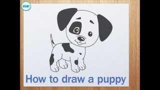 getlinkyoutube.com-How to draw a puppy