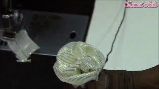 getlinkyoutube.com-Handmade Flower using waste cloth with english subtitles