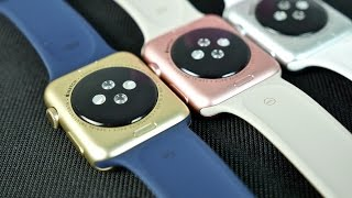 getlinkyoutube.com-Apple Watch Sport Rose Gold & Gold Colors - Unboxing & Comparison