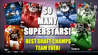 getlinkyoutube.com-SO MANY SUPERSTARS! BEST DRAFT CHAMPIONS TEAM EVER! Madden 16 Draft Champions Gameplay