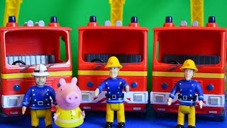getlinkyoutube.com-Fireman Sam Episode 3 Fire Engines WIth Peppa Pig