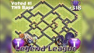 getlinkyoutube.com-*Clash Of Clans* Town Hall 9 Trophy Base (Legend League Base!)