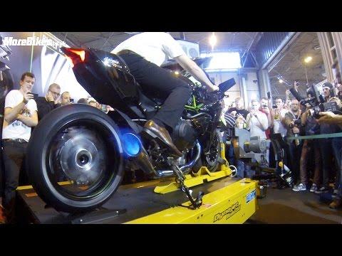 BEST VIDEO: 326bhp Kawasaki Ninja H2R spits flames on rolling road dyno