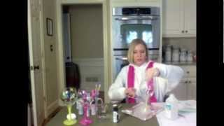 getlinkyoutube.com-DIY holiday gift Idea # 4  Painted Wine Glasses