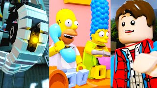 getlinkyoutube.com-LEGO Dimensions All Level Packs Wave 1 (The Simpsons, Portal 2, Back to the Future)