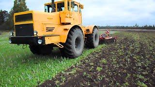getlinkyoutube.com-Kirovec K-701 tractor + Horsch Terrano 4 FX cultivating