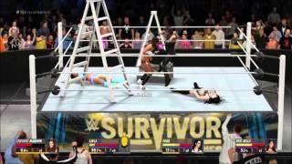 getlinkyoutube.com-WWE 2K16 Fatal 4 Way Ladder Title Match