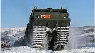 getlinkyoutube.com-Наши Тесты  Камуфляж Снегоболотоходный Двухзвенный Гусеничный Тягач ДТ - 30П