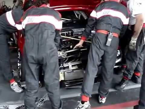 Быстрый ремонт гоночной Аlfa Romeo 156