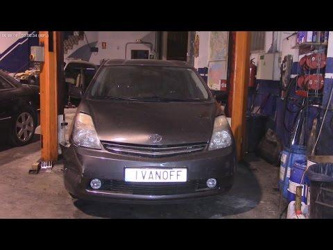 Ремонт автомобиля Toyota Prius 2008, передний правый удар, замена крыла,замена бампера