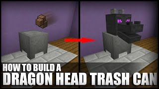 getlinkyoutube.com-How to Make a Working Trash Can in Minecraft (Dragon Head Edition)