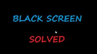 getlinkyoutube.com-Black screen of ☠ DEATH ☠ Windows 7 & 8 - with cursor at start-up SOLVED