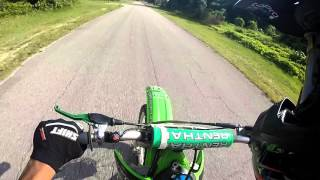 First time riding a 2 stroke! KX250