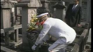 getlinkyoutube.com-【笹川良一】山本五十六元師の墓に詣でる/田中角栄邸