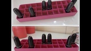 getlinkyoutube.com-DIY | Porta batons de papelão