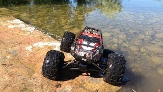 getlinkyoutube.com-Traxxas Summit 1/10 Test at the Pond
