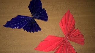 How To Make Paper Butterfly (Origami) Helps in Decorating Walls and Project files