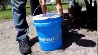 getlinkyoutube.com-Homemade 5 Gallon Bucket Waterer For Chickens