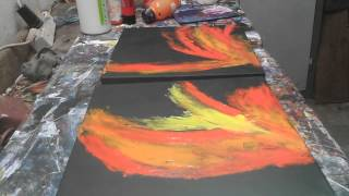 getlinkyoutube.com-Acrylmalerei Abstrakt