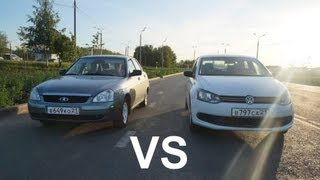getlinkyoutube.com-Lada Priora против VW Polo Sedan