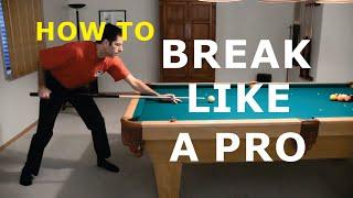 getlinkyoutube.com-Pool Break Shot Technique Advice - How To Break - from Vol-III of the BU instructional DVD series