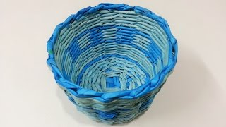 getlinkyoutube.com-How to make newspaper basket