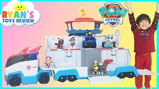 getlinkyoutube.com-Paw Patrol Toys Paw Patroller Nickelodeon Snow Blower with Everest