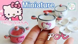 getlinkyoutube.com-미니어쳐 식완 ✔헬로키티 냄비 Minature rement ✔Hello Kitty Pot Polymerclay