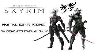 getlinkyoutube.com-Weekly Skyrim Mods: Metal Gear Rising Raiden/Jetstream Sam, Akaviri Samurai Armor