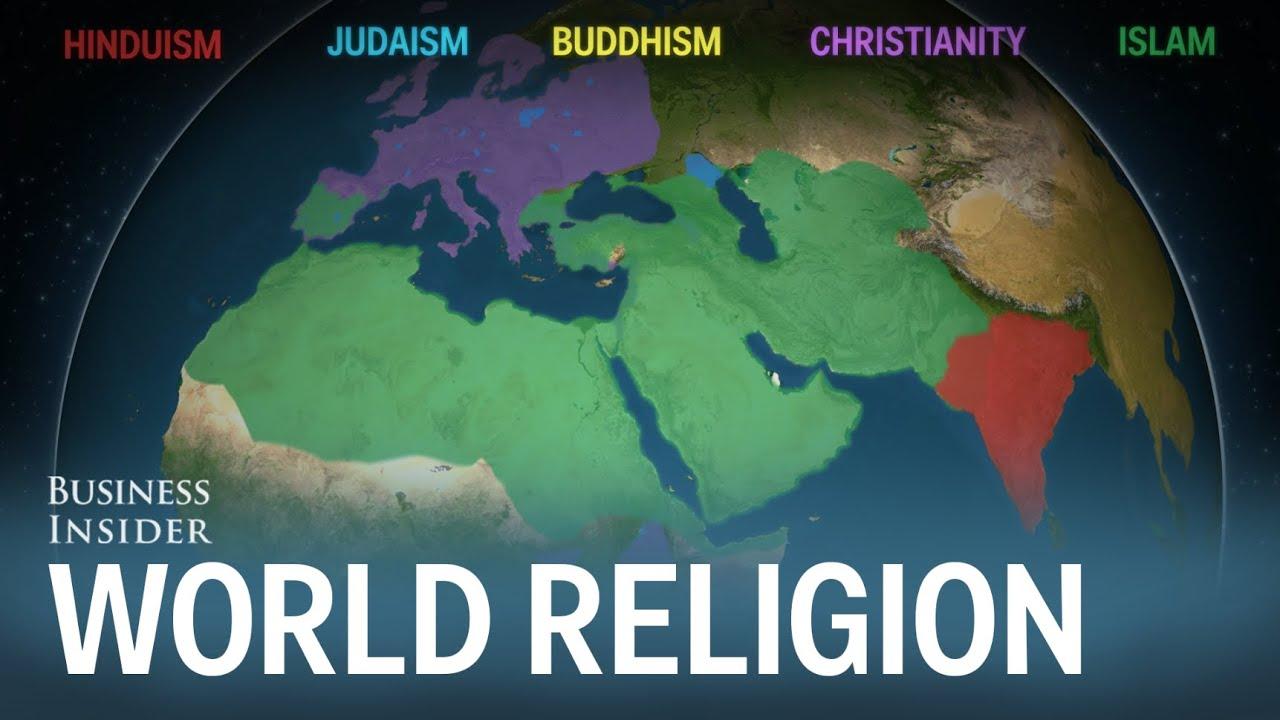 Vídeo con la Evolución de las Religiones en el mundo 🌎