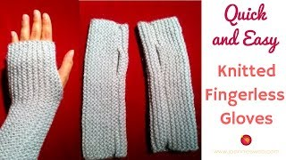 getlinkyoutube.com-Knitted Fingerless Gloves | A Quick and Easy Knitted Project | Fingerless Mitts