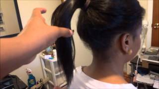 getlinkyoutube.com-The best Sew in For a Natural High Pony Tail (protective style)