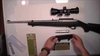 Ruger 10/22 Rifle Tactical Mounts (UTG Bug Buster Scope)