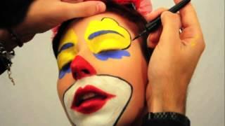 getlinkyoutube.com-Trucco Make-up Clawn Pagliaccio