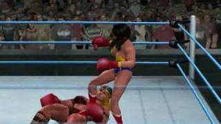 getlinkyoutube.com-Boxing - Wonder Woman vs Viking Queen (HD)