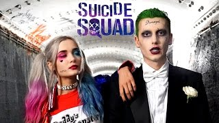 getlinkyoutube.com-The Joker SUICIDE SQUAD Makeup Tutorial ft. Harley Quinn
