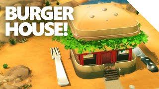 getlinkyoutube.com-The Sims 4 - BURGER HOUSE Build!