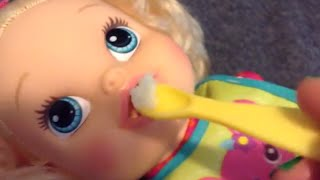 getlinkyoutube.com-Baby Alive My Baby All Gone Eats Snow Ice Cream