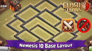 getlinkyoutube.com-Clash Of Clans: TH10 | BEST Clan War Base Layout (Anti-LavaLoon) - Nemesis 10
