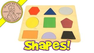 getlinkyoutube.com-Learn Shapes and Colors Wood Puzzle - Circle, Triangle, Pentagon, Square, Oval, Trapezoid