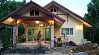 getlinkyoutube.com-Hausbau in Thailand /Sakaeo.