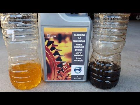 Замена масла в угловой передаче на Volvo
